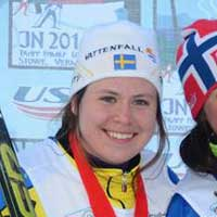 Husky Ulrika Axelsson 2nd in Classic Sprint at Junior Nationals