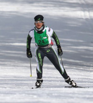 (Record-Eagle/Jan-Michael Stump) Eli Brown of Williamsburg wins the men's 50k freestyle in Saturday's 38th annual North American VASA.