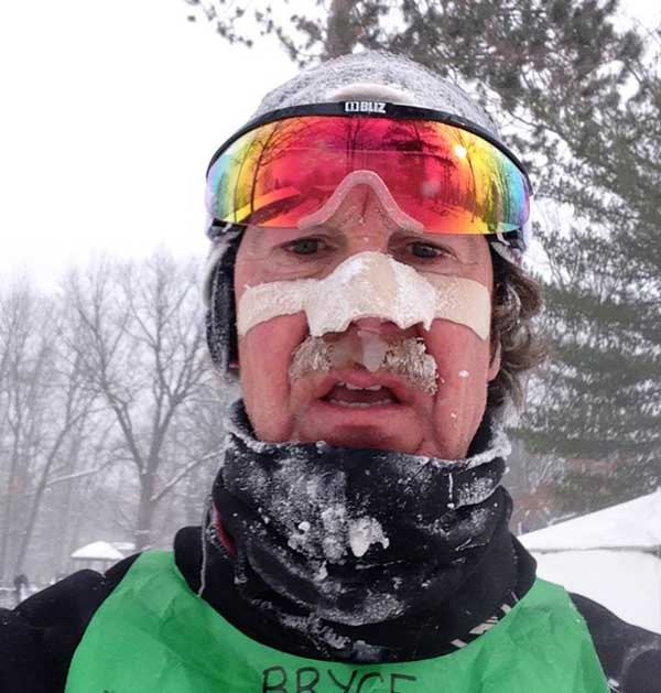 Bryce Dreeszen shows what happens when you race in frigid temperatures, in high winds, when it's snowing