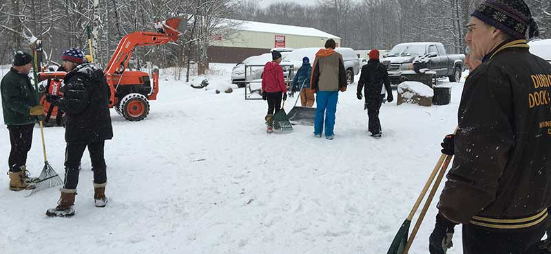 Volunteer Crew Prepares XC Ski Trails for U.S. Nationals