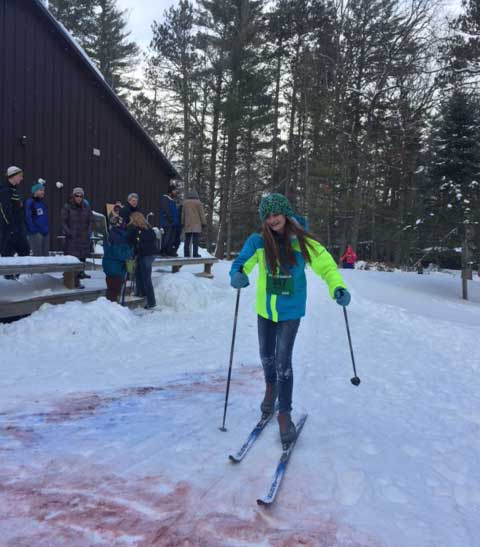 Cote Dame Marie kids cross country ski race