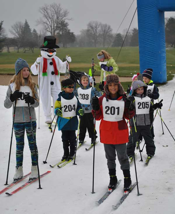 Forsty Freestyle cross country ski race, start of the kids event