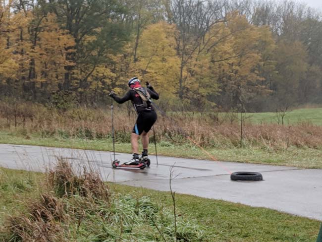 NordicSkiRacer Rollerski Time Trial at Maybury State Park