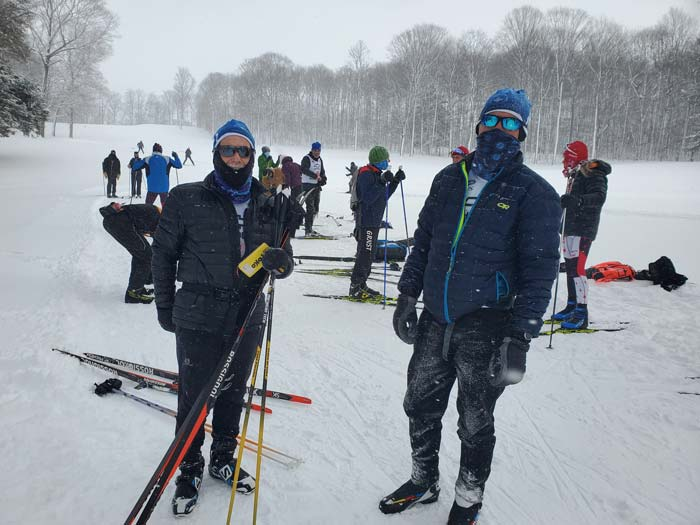 Tony Percha and Doug Cornell at Boyne Vistas cross country ski race