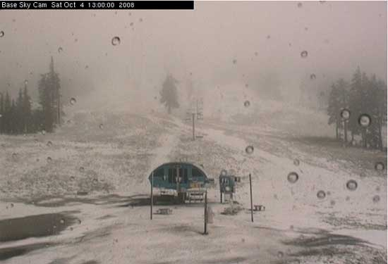 First snow of the season at Mount Bachelor