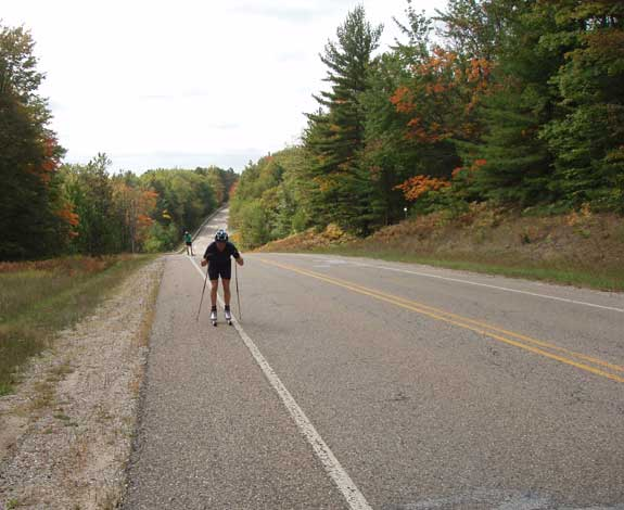 You can continue rollerskiing up the road past Hartwick Pines