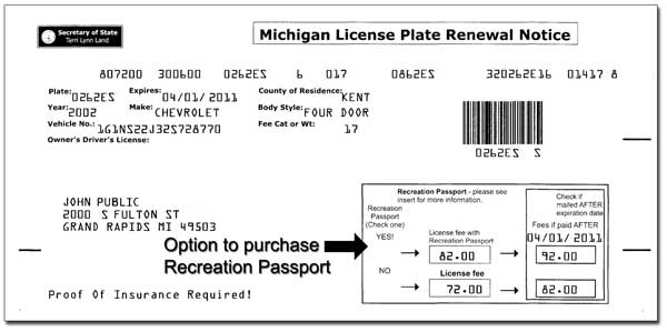 Michigan Registration Renewal Form