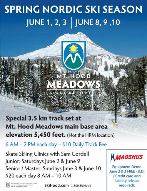 Spring nordic skiing at Mount Hood
