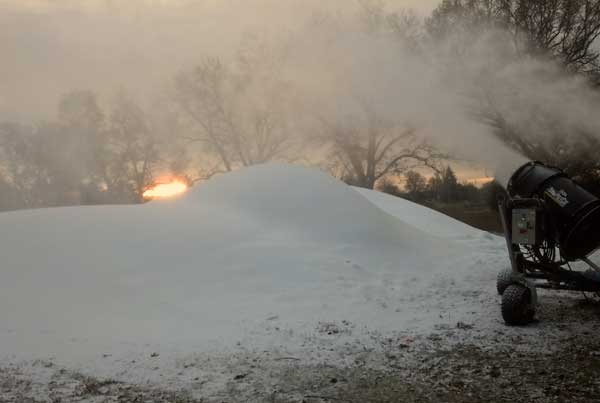 Huron Meadows snow making for cross country ski trails