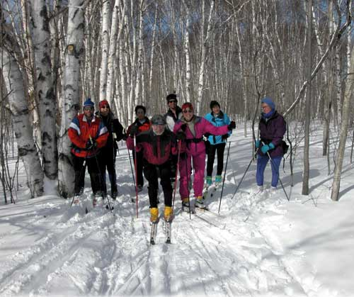 Washtenaw Ski Touring Club members, on skis