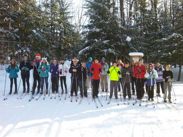 Gaylord Middle School cross country ski club at Aspen Park in Gaylord back in March 2015