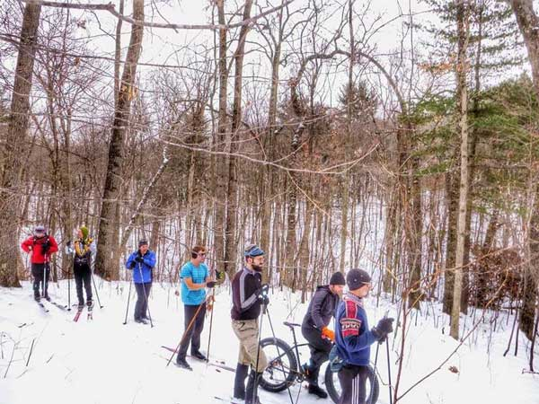 On the cross country ski trail