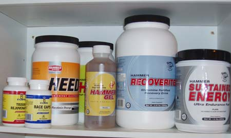 Hammer Nutrition products - Hammer Gel, HEED, Recoverite