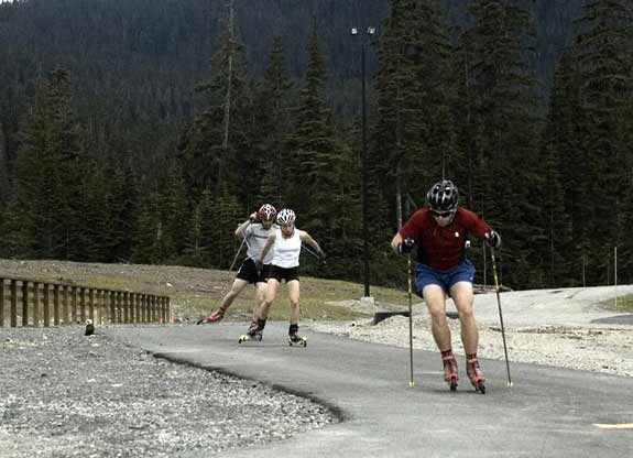 Rollerskiing the Callaghan Valley