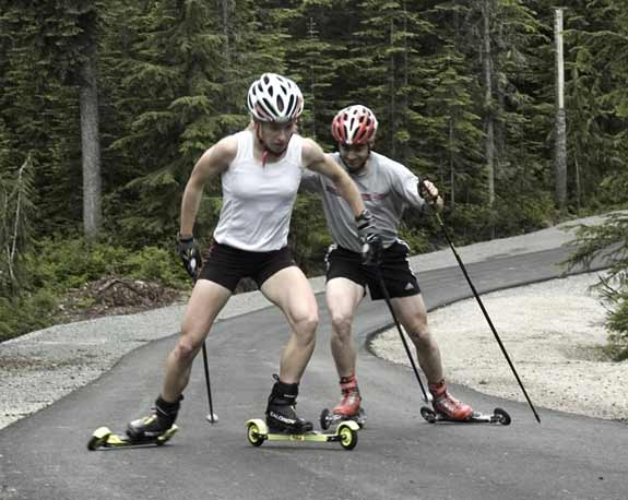Rollerskiing - Morgan Smyth and Zach Caldwell