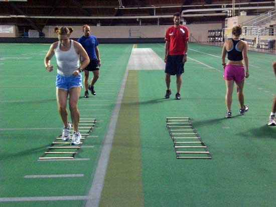 Cross Country ski ladder drills