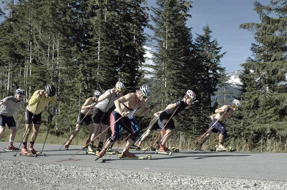 Rollerski sprint relay at USST Whistler camp