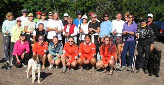 CXC Ladies (front row) with a weekly Friday meeting of Ski and Tea