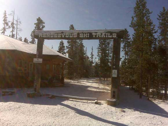 First snow on Yellowstone Rendezvous ski trails