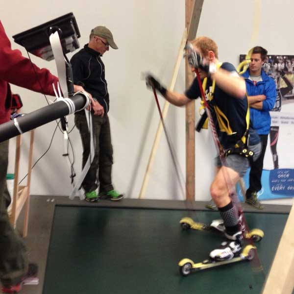 CXC Skiing offers performance testing on 10x12 roller skiing treadmill