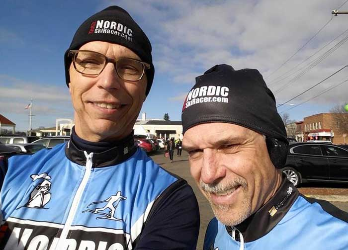 Unlucky skiers who don't live near the snow of Nubs Nob or the Upper Peninsula find other things to do, like bike or, in the case of Team NordicSkiRacers Mike Muha and Tony Percha, run in the Passion for Life race.