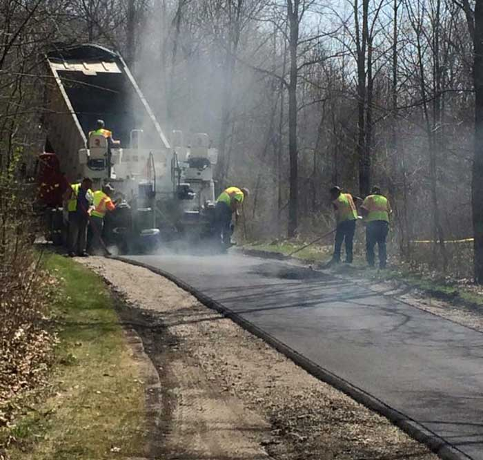 Maybury State Park is repaving at least some of their trails and putting in a paved path from the corner of Eight Mile and Beck Road in Northville, Michigan to the park. Should greatly improve the rollerskiing in the park!  (Photo: Friends of Maybury State Park)