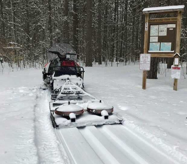 Saturday: Six inches at Black Mtn right now. 20 km groomed for classic. (Denny Paull)