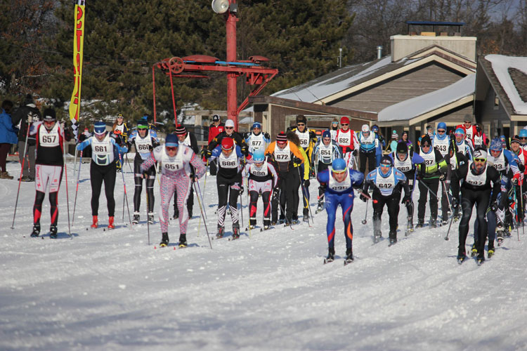 Men's start at the Hanson Hills Classic / Michigan Cup Classic Championships