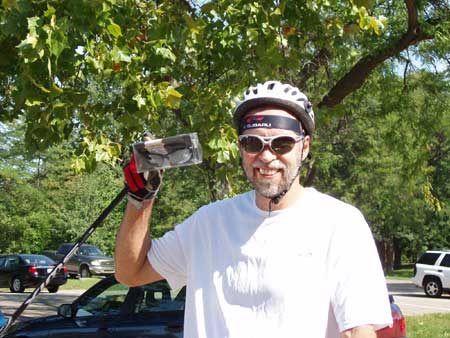 Greg Worrel wins a pair of Casco SX-20 Sport Glasses while out rollerskiing