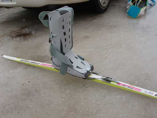 bionic boot and binding cross country ski system