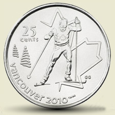 Cross Country Ski 25 cent coin
