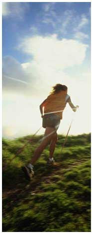 Nordic walking, also called ski walking