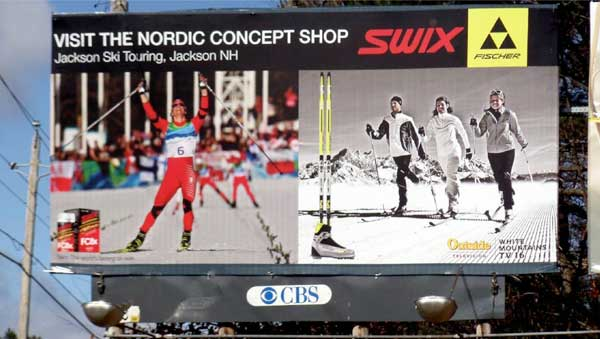 Swix billboard promotes cross country skiing