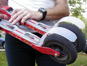 Make your own rollerski fenders