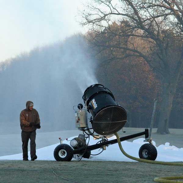 Snow-making for Huron Meadows Metropark's cross country ski trails