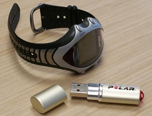 Polar RS800CX heart rate monitor and Polar USB IrDA Adapter