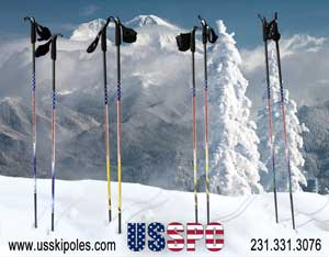 Custom poles for competitive ski clubs