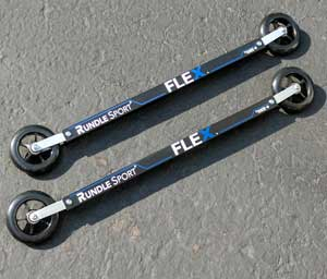 UPDATED: Rundle Sport FLEX Skate Roller Skis tame rough roads
