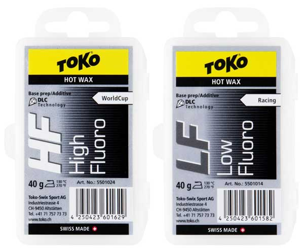 Toko HF and LF Black cross country ski wax