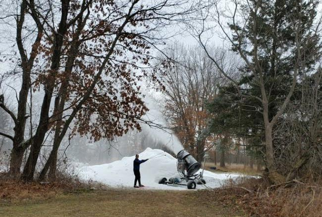 Making snow for the Frosty Freestyle and Krazy Klassic ski races