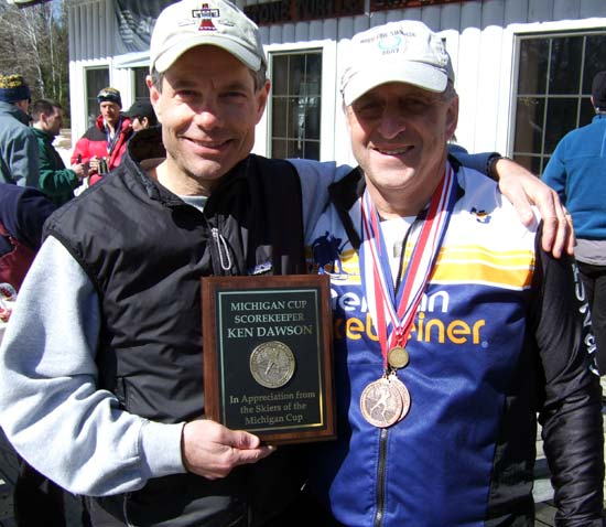 Ken Dawson and Ernie Brumbaugh, cross country ski skiers