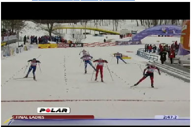 Video of Kikkan Randall wining the sprint - start to finish