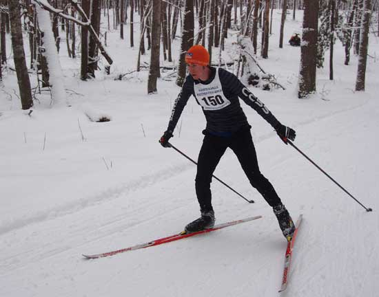 Joe webb at the michigan cup team time trial cross country ski race