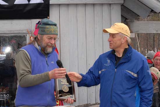 Don Kane receives award from Chair of Michigan Cup Committee, Ernie Brumbaugh