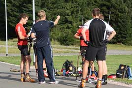 Planning the biathlon training in Oberhof (Photo: Viktoria Franke)