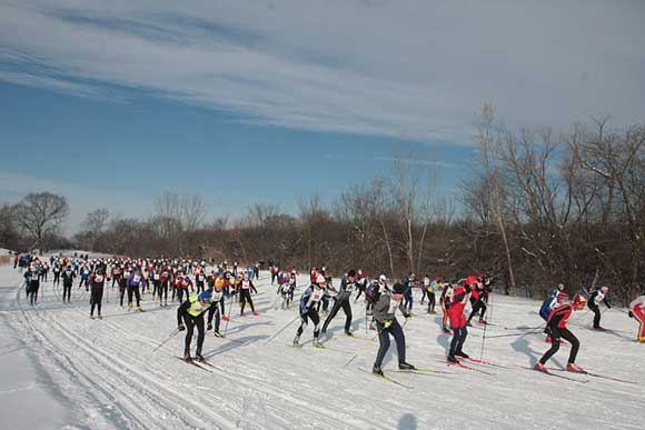 Northern Illinois cross country ski race
