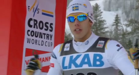 Marcus Hellner wins cross country ski race in Gällivare