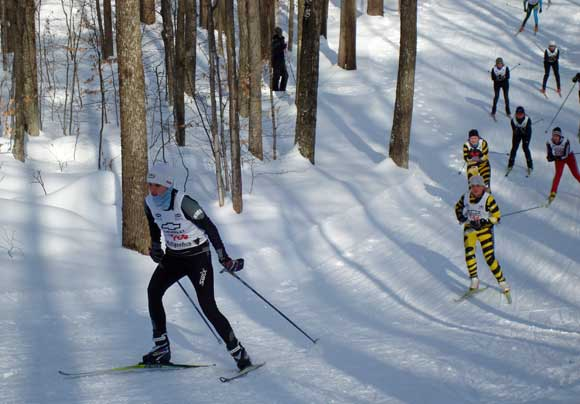 Start of the women's10k cross country ski race