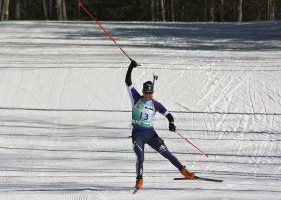 Russell Currier winning the 2010 Biathlon National Championships 15K
