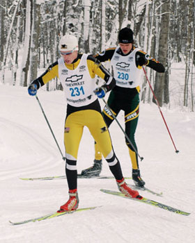 Oskar Lund takes 2nd in MTU Challenge cross country ski race